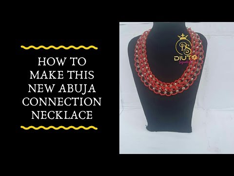 Bead tutorial / How to make this new abuja connection necklace