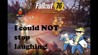 This guy is HILARIOUS!| I ran into a STREAMER | Fallout 76