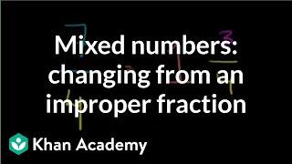 Changing an Improper Fraction to a Mixed Number