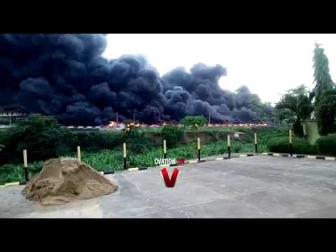 Tanker Explosion Along The Busy Lagos-Ibadan Expressway