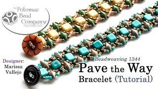 Pave The Way Bracelet - DIY Jewelry Making Tutorial By PotomacBeads
