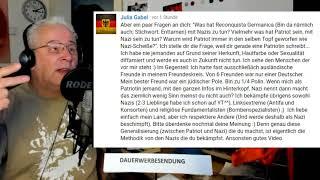 Kommentar Julia Gabel - VS Reconquista Germania - Patriot VS Nazi Ideologie