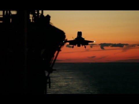 F-35B Twilight Operations on the USS Wasp