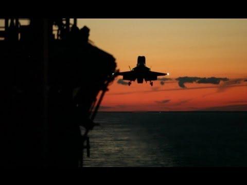 F-35B Twilight Operations on the USS Wasp