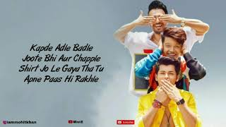 Yaari Hai Full Song With Lyrics Tony Kakkar | Riyaz Aly | Siddharth Nigam | Happy Friendship Day