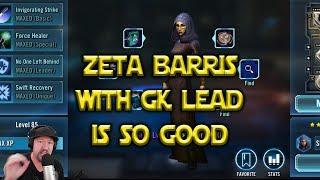 Star Wars: Galaxy Of Heroes - Zeta Barris GK Lead Is So Good