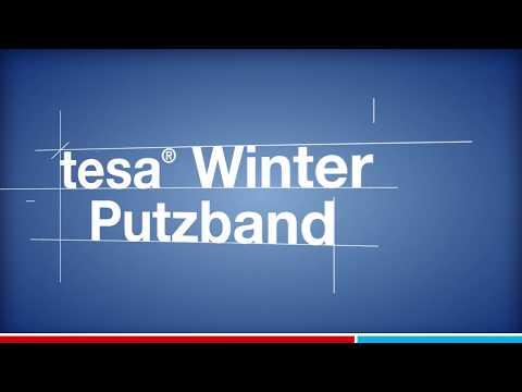 tesa Winter Putzband 4843 - bestmöglicher Schutz beim Verputzen von Außenwänden