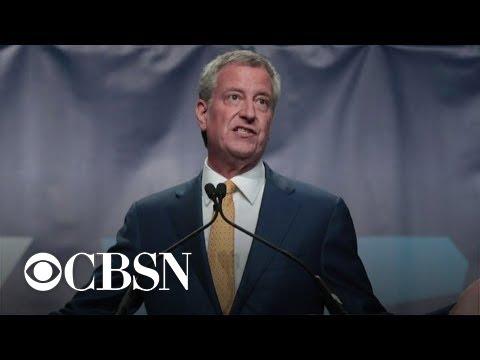 New York City Mayor Bill de Blasio drops out of Democratic presidential race