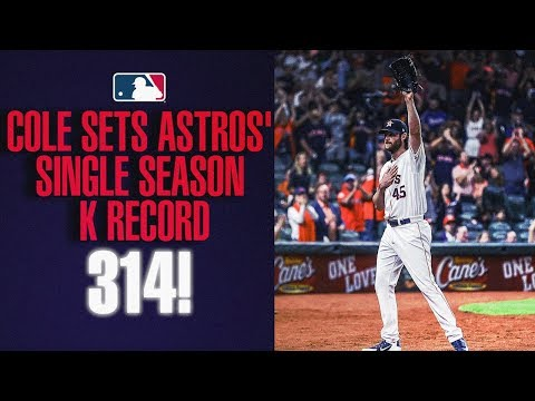 Gerrit Cole sets Astros' strikeout record