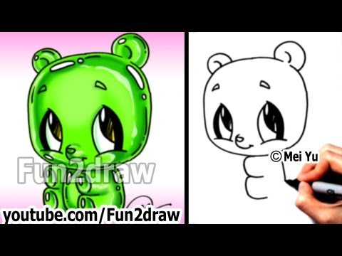 Fun2draw gummy bear fun2draw stars by the funny drawers for Fun to draw cat