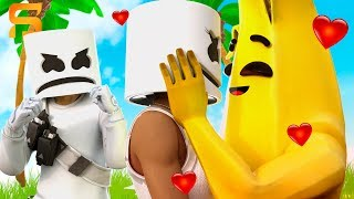 Peely FALLS IN LOVE with Marshmello's GIRLFRIEND...