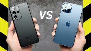 Samsung Galaxy S21 Ultra 5G vs Apple iPhone 12 Pro Max Drop Test!
