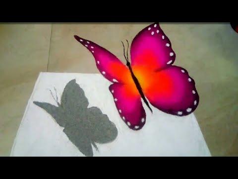 beautiful butterfly 3d poster rangoli design by sheela art