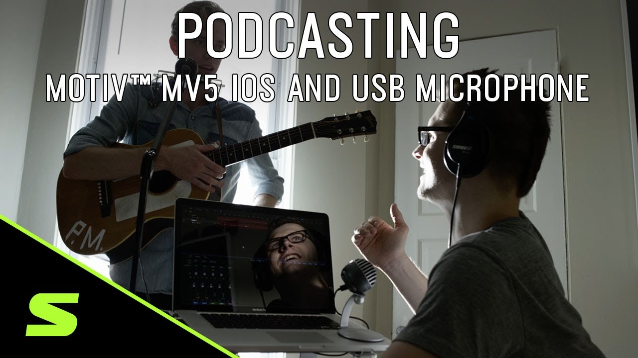 Podcasting with Shure MOTIV MV5 iOS and USB Microphone