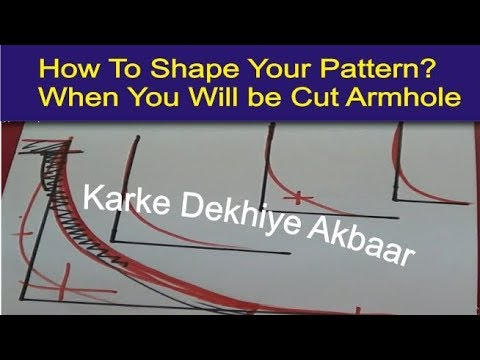 how to shape your pattern of armhole drawing | perfect Armhole Shape technique | explain detail