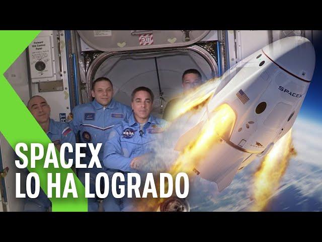 La nave de SpaceX se acopla con éxito a la ISS: CÓMO HA SIDO Y POR QUÉ ES TAN IMPORTANTE