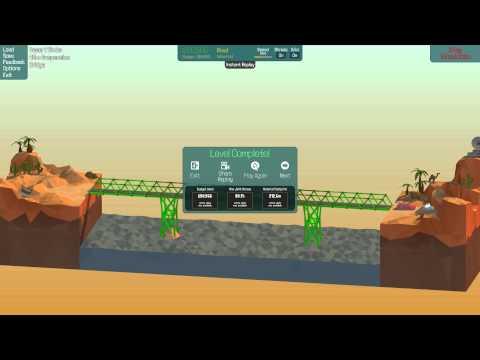 3 Poly Bridge Solutions [42m Suspension Bridge 2-7]