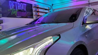 XTS Cadillac Carbon Windshield Tint LIVE! @ Detroit Tint Studio