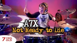 NOT READY TO DIE - A7X (7 year old Drummer) Drum Cover by Avery Drummer Molek