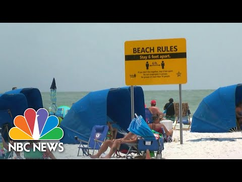 Florida Breaks Coronavirus Records With 15,300 New Cases In One Day | NBC Nightly News