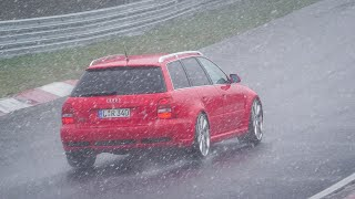Terrible Weather, Heavy Snow & Fog: Winter Strikes AGAIN at the Nürburgring Nordschleife! 11 04 2021