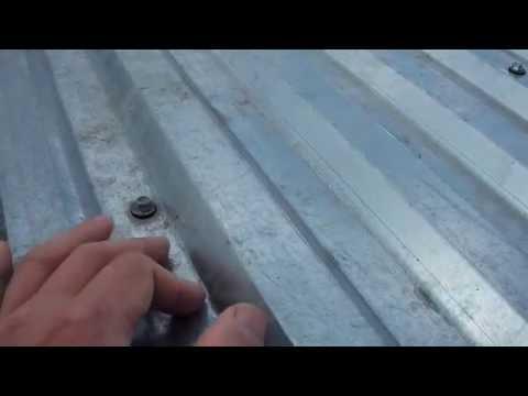 Как не надо крепить на крышу профнастил