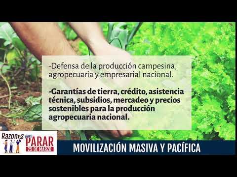 Razones para Parar, por los Campesinos y productores agropecuarios