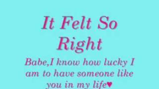 It Felt So Right by Sarah Geronimo with lyrics♥♥♥