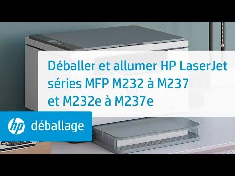 Déballer et allumer HP LaserJet séries MFP M232 à M237 et M232e à M237e | HP LaserJet | HP