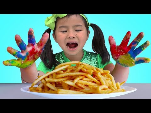 Johny Johny Yes Papa | Jannie & Wendy Pretend Play Wash Your Hands Nursery Rhymes Song