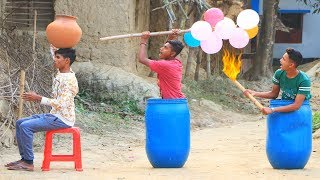 New Top Funny Comedy Video 2020__Very Funny Stupid Boys__Episode-103--Indian Fun || ME Tv