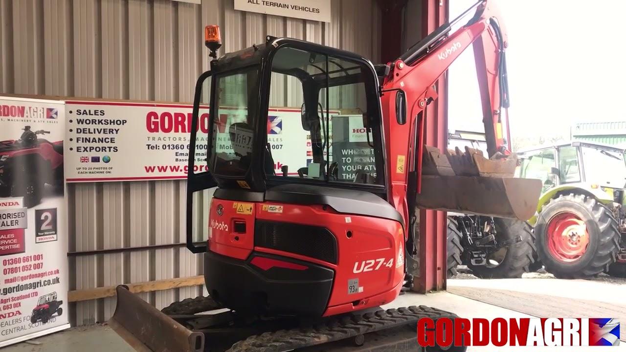 Kubota U27-4 2.6 Ton Mini Excavator