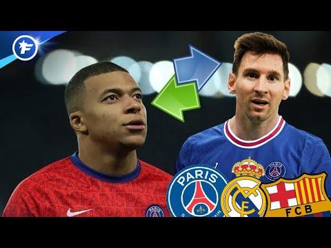 L'arrivée de Lionel Messi au PSG pourrait envoyer Kylian Mbappé au Real Madrid   Revue de presse