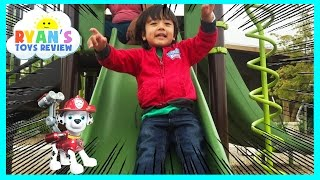 Family Fun Playtime on the playground chase with Paw Patrol Egg Surprise Toy Thomas and Friends