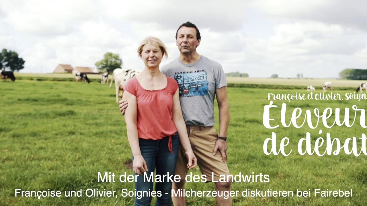 Francoise und Olivier, Soignies - Milcherzeuger diskutieren bei Fairebel