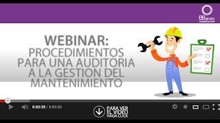 Webinar auditoría de gestión del mantenimiento