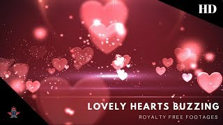 heart background animation | moving hearts background | love heart background video effects hd