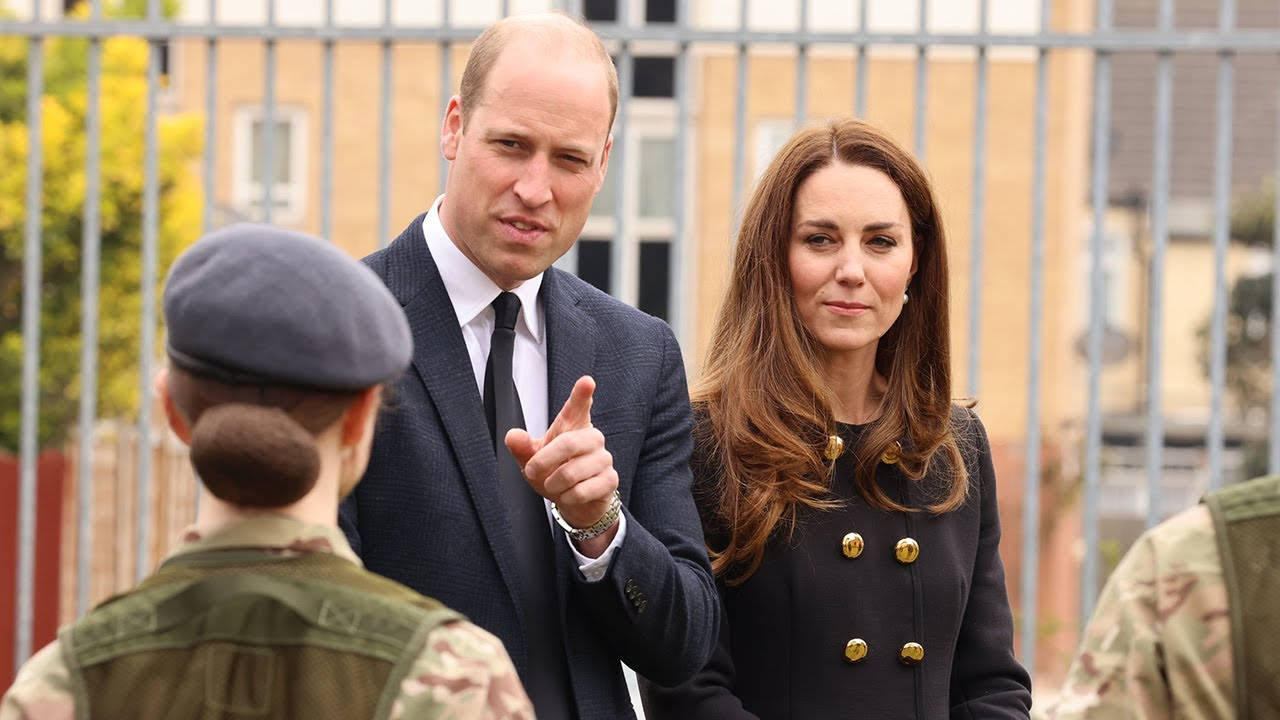 Duke and Duchess of Cambridge visit Air Cadets in honour of Prince Philip