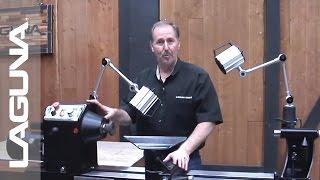 REVO 1836 Lathe Setup - Mounting The Lights - Part 6