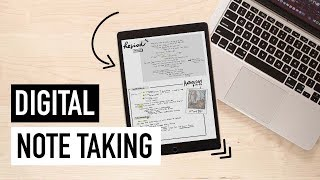 DIGITAL NOTE TAKING 101 | GoodNotes + OneNote Tips for iPad/Laptop