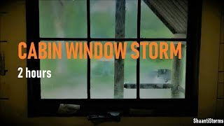 Thunderstorm Cabin Window Sleep Sounds - Rain, sleep, relax, study