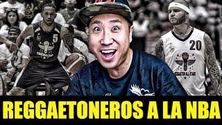 Reggaetoneros a la NBA comedia