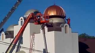 St. Mary & St. Abram Coptic Orthodox Church - Copper Dome Metal Fabrication and Installation