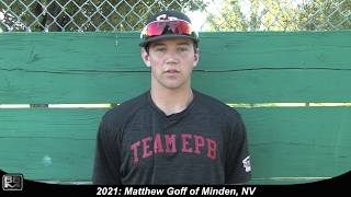 2021 Matthew Goff Left Handed Pitcher, First Base and Outfield Baseball Skills Video
