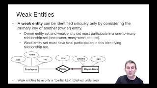 Lecture 16 Part 8 Weak Entities