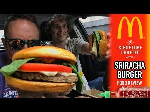 McDonald's Signature Crafted Sriracha Burger Food Review   Season 4, Episode 23