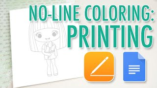 How To Print Digital Stamps For The No-Line Coloring Technique
