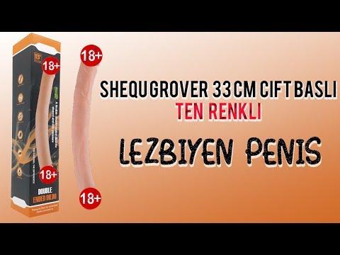 Shequ Grover 33 Cm Çift Başlı Ten rengi Lezbiyen Penis