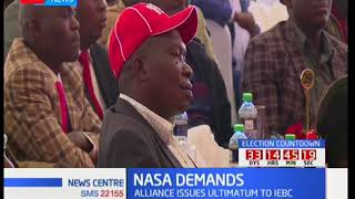NASA leader insists that there will be no elections come October 17th without a level playing field