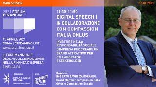 Youtube: Digital Speech | Investire nella Responsabilità Sociale d'Impresa per creare un Brand attrattivo per Collaboratori e Stakeholder | Financial Forum 2021